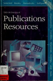 1993-94 Directory of Publications Resources by Publications Epm