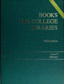 Cover of: Books for college libraries by