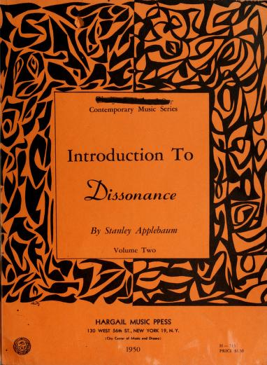 Introduction to dissonance by Stan Applebaum