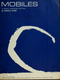 Cover of: Mobiles | Arnold Shaw