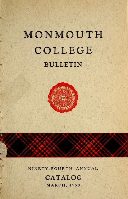 Monmouth College catalog by Monmouth College (Monmouth, Ill.)