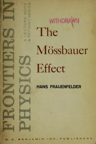The Mössbauer effect by Hans Frauenfelder