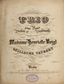 Cover of: Premier trio pour piano, violon et violoncelle, oev. 32 | Wilhelm Taubert